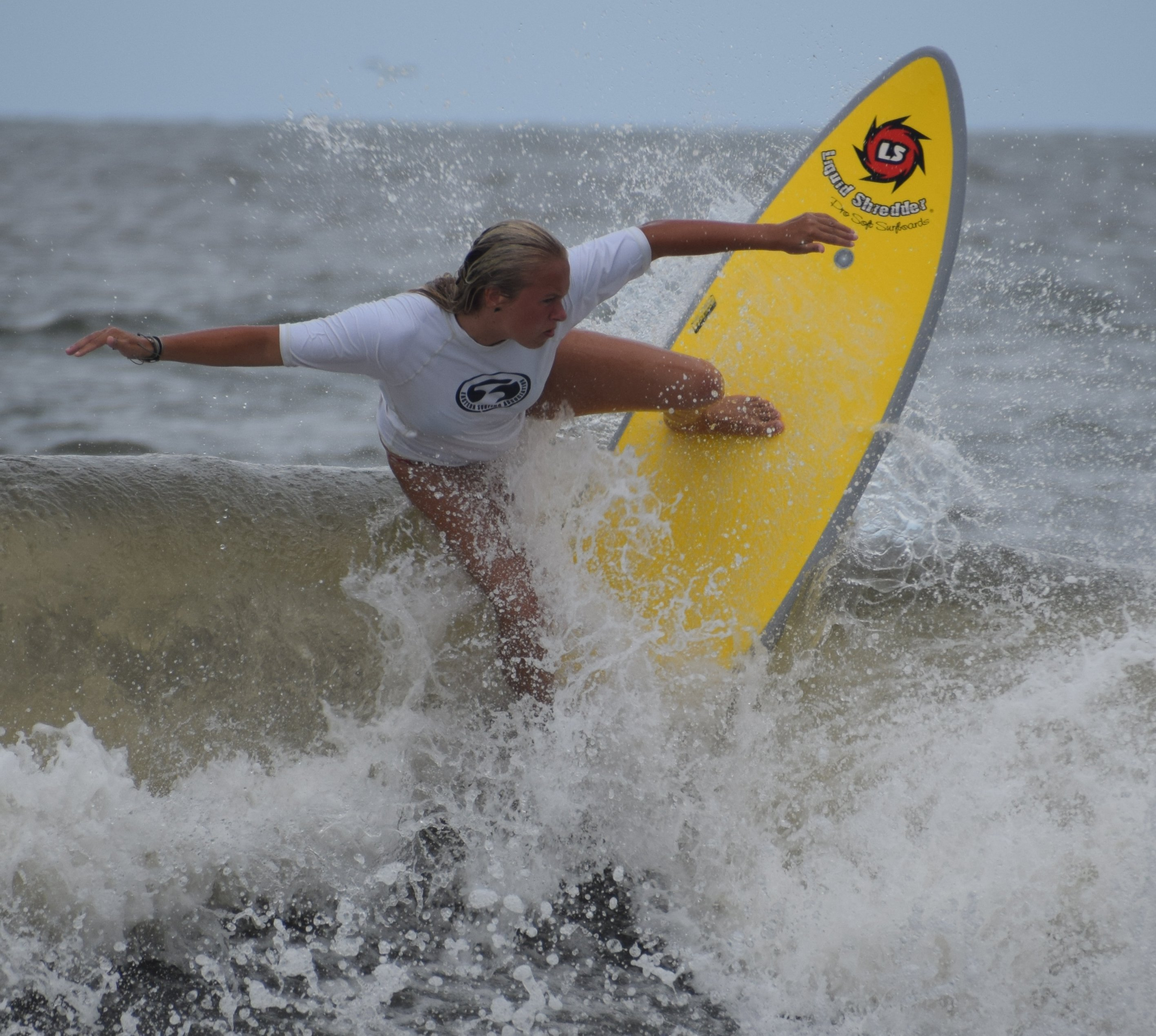 Grace Muckebfuss on Element Series Soft Surfboards