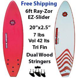 Liquid Shredder RayZor 6ft Soft Sourfboards EZ-Slider