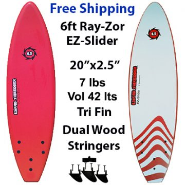 Liquid Shredder RayZor 6ft Soft Sourfboards EZ-Slider
