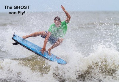 Ghost black ball beater surfboard by Liquid Shredder