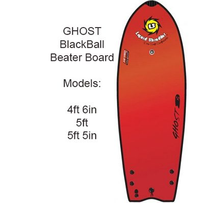 Beater black ball Ghost surfboards