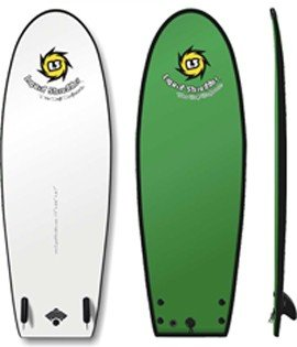 5ft 5in HD Black Ball Soft SurfBoard Beater Liquid Shredder