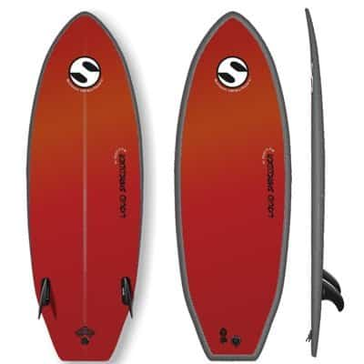 Twin Fin Surfboard Liquid Shredder