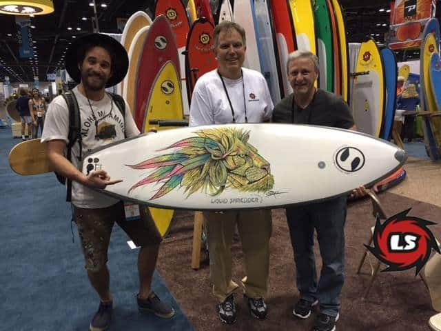 DaveL art on surfboards by Liquid Shredder
