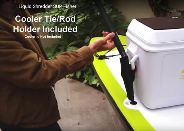 SUP Rod Holder cooler tie down