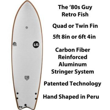 Eighties 80s Guy Retro Fish surfboards