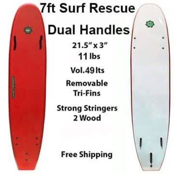 7ft Surf Rescue Soft Surfboard