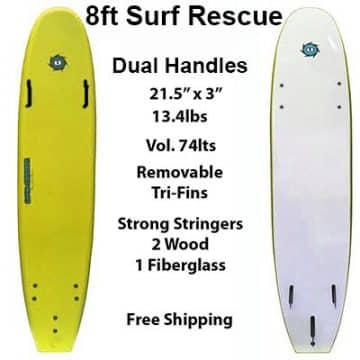 8ft Surf Rescue Soft Surfboard