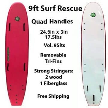 9ft Surf Rescue Soft Surfboard