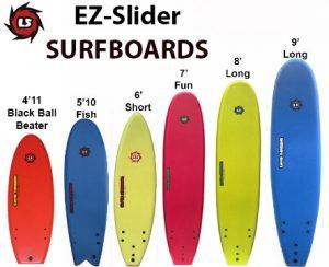 Liquid Shredder Brand EZ-Slider Soft Surfboards