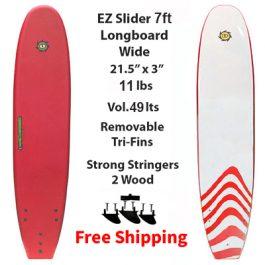 7ft EZ Slider Foamie Soft Surfboard