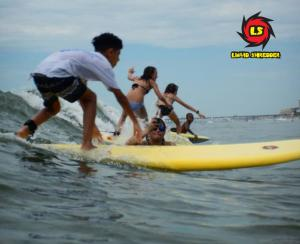 EZ 7ft surf camp yellow